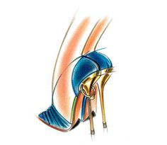 GUILLAUME HINFRAY sketch spring summer 2012 blue shoes