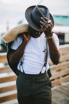 New post on mens-fashion-inspiration Gents Fashion, Mens Fashion Suits, Style Fashion, Sharp Dressed Man, Poses, Suspenders, Classic Looks, Dapper, Black Men