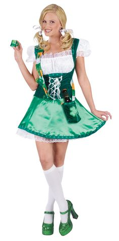 Bring a little Irish Spirit to the party in this Sassy Lassie Costume. Finally a St Patrick's Day costume that features all the great things that grown ups love about this wonderful Irish Celebration. St Patrick's Day Costumes, Adult Costumes, Costumes For Women, Halloween Costumes, Adult Halloween, Irish Celebration, Fancy Dress, Dress Up, Leprechaun Costume