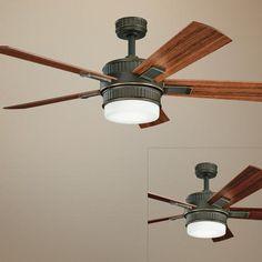 """52"""" Kichler Walker Oiled Bronze Ceiling Fan"""