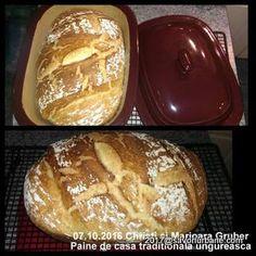 Paine de casa traditionala ungureasca | Savori Urbane Health And Nutrition, Bread Recipes, Bakery, Food And Drink, Sweets, Homemade, Cabana, Bread Baking