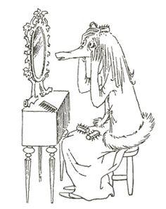 Muumittajan Muumi-blogi: maaliskuu 2013 Moomin Valley, Tove Jansson, Little My, Children's Book Illustration, Troll, Childrens Books, Illustrators, Fairy Tales, Silhouette