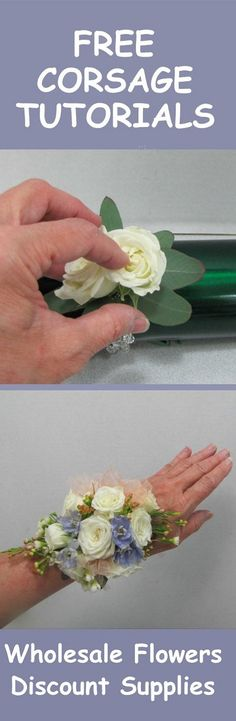 How to Make a Rose Corsage - Easy Wedding Flower Tutorial  Learn how to make bridal bouquets, corsages, boutonnieres, reception table centerpieces and church decorations. Buy wholesale fresh flowers and discount florist supplies.