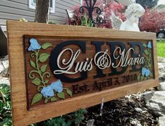 Sweetpea flower & vine /.Anniversary gift / Wedding gift / Personalized Carved Wooden Plaque / carved art on Wanelo