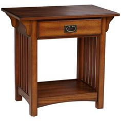 Shiloh Mission Style Medium Oak End Table On sale for 100, coordinates with our Bassett end table