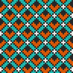 Art Deco Perler Bead Pattern (possible cross stitch pattern? Kandi Patterns, Bead Loom Patterns, Perler Patterns, Weaving Patterns, Knitting Charts, Knitting Patterns, Cross Stitch Designs, Cross Stitch Patterns, Tapestry Crochet Patterns
