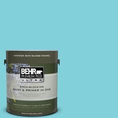 BEHR Premium Plus Ultra 1-gal. #P470-3 Sea of Tranquility Semi-Gloss Enamel Interior Paint