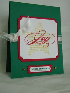 Mini Christmas using Stampin Up The Sounding Joy stamp set.