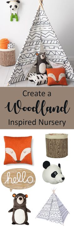 Woodland nursery and kids rooms are so awesome! They are full of adventure and excitement, just what the little ones wish for! And they are gender neutral! #woodland #nursery #kidsroomdecor #ad