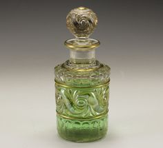 Baccarat Crystal Perfume Bottle Flacon with Crystal Stopper Unmarked Gold Gilt   eBay