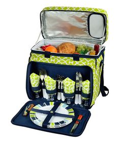 Look at this #zulilyfind! Trellis Green Four-Person Picnic Cooler by Picnic at Ascot #zulilyfinds