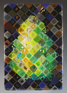 Pear: Nina Cambron: Art Glass Wall Art - Artful Home