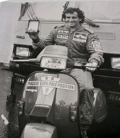 Alan Prost on Vespa T5