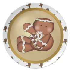 Christmas Holiday Gingerbread Cookie Plate