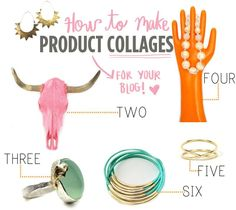 How to make product collages: A Beautiful Mess