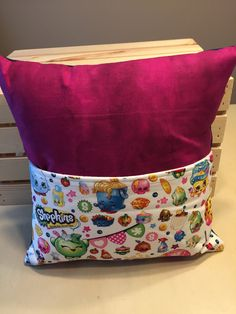 Shopkins Pocket Pillow by thescrappyquilter22 on Etsy