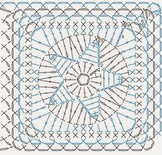 Dnes mám pro vás návod na háčkovaný čtvereček s hvězdičkou.   Použila jsem přízi Paris od firmy Drops Design ( 50g = 75 m, 100% bavlna ). ...