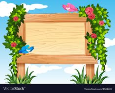 Frame design with birds and vine vector image on VectorStock Frame Border Design, Boarder Designs, Page Borders Design, Art Drawings For Kids, Art For Kids, Boarders And Frames, Printable Frames, School Frame, Janmashtami Decoration