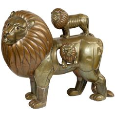 "Sergio Bustamante ""Group of Lions"" Sculpture"