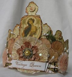 Mixed Media Crown by Thespoena McLaughlin by Vintiquities Workshop, via Flickr