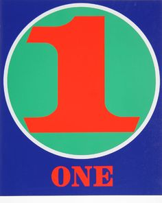 1968 One (The Numbers Portfolio) serigraph. ART & ARTISTS: Robert Indiana - part 2