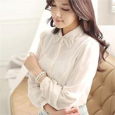 Buy 'Romantic Factory – Beaded-Collar Chiffon Blouse' with Free International Shipping at YesStyle.com. Browse and shop for thousands of Asian fashion items from South Korea and more!