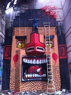 """Mr Thoms """"Alive If You Are Burning"""" New Mural In Fonte Nuevo, Italy StreetArtNews"""