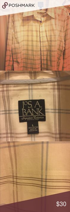 Joseph A Banks Dress Shirt This Jos. A. Banks' dress shirt is a stylish and sophisticated. It looks great with a pair of slacks or even with jeans! joseph a banks Shirts Dress Shirts