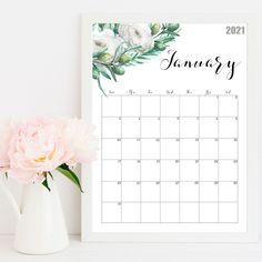 Watercolor Wall Calendar 2021 🌱🌿🍃