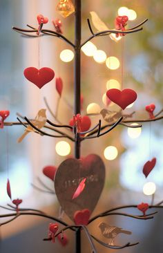 What about decorating the house to get in the mood for Valentine's Day ?
