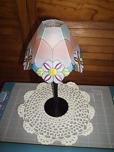 Handcrafted Tea Candle, Wine Glass, Parchment Lampshade