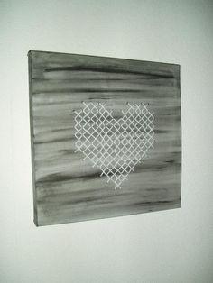 borduren op schildersdoek