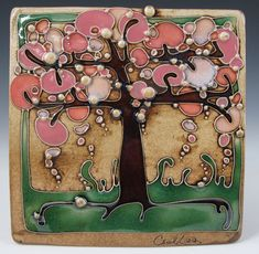 Tile - Carol Long Pottery.  Swore I wasn't going to pin any more Carol Long ceramics ... but, but, but LOOK! wow