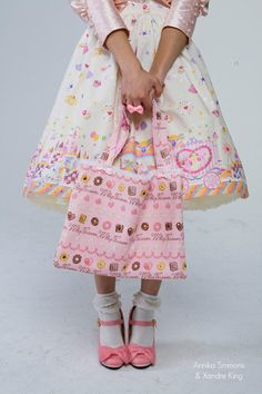 Sweet Lolita Carousel Skirt with Unicorns, Castles, and Sweet Desserts on Etsy, £48.36