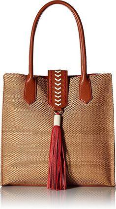 Amazon.com: Badgley Mischka Bailey Straw Tote, Natural: Clothing