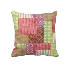 Trendy Patchwork Quilt Pillows