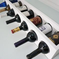 DIY wine rack close-up