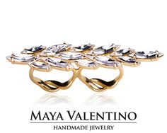 Multifinger ring Goldfield ring Statement ring by MayaValentino
