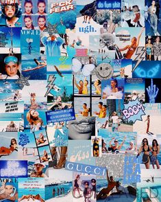 "COLLLAGED on Instagram: ""blue collage available for enlargements onto canvases! 🦋🦋🦋"" Bedroom Wall Collage, Photo Wall Collage, Picture Wall, Bedroom Decor, Aesthetic Collage, Blue Aesthetic, Color Collage, Collage Ideas, Artsy Background"