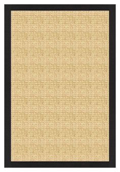 Sustainable Lifestyles Sand Sisal Rug with Lava Cotton Border