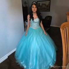 Light Blue Tulle Puffy Quinceanera Dresses Major Beading Crystals Sweetheart Lace Up Vestidos De 15 Anos 2017 Sweet 16 Ball Gown Quinceanera Dresses 15 Years Girls Quinceanera Dresses Sweet 16 Prom Dresses Online with $222.86/Piece on Beautyu's Store | DHgate.com