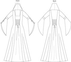 Hooded Medieval Dress Sewing Pattern - Laura Marsh Sewing Patterns