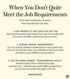 When You Don't Quite Meet The Job Requirements | Job Search Tips