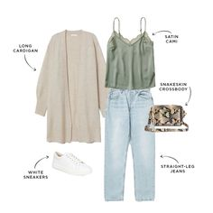 Now is the time to declutter our closets and dream of our spring wardrobes. Here are five ways to style your white sneakers: Mom Outfits, Spring Outfits, Cute Outfits, Oufits Casual, Casual Outfits, Fashion Outfits, Spring Summer Fashion, Autumn Fashion, Spring Style