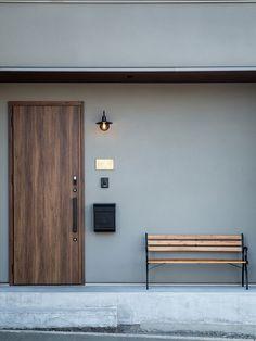 Main Entrance Door Design, Bungalow House Design, Japanese House, Home Interior Design, Ideal Home, Building A House, Architecture Design, House Styles, Photoshop