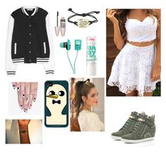 """Geek on Fleek"" by mirinc ❤ liked on Polyvore featuring River Island, MANGO, Maybelline and alfa.K"