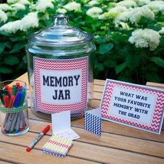 A great idea for year end party! Have everyone write one at the beginning of the evening - What was your favorite memory this year and then share them at the close of the party. by beth