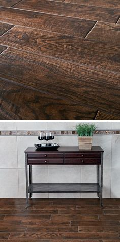 Wood grain tile is an especially good choice for high-traffic areas such at the entryway, mudroom or hallways. Consider it for any part of the home where you want a durable, easy to maintain floor that looks spectacular. Click through to see rave customer reviews for this wood-look porcelain floor tile.