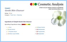 Cetaphil Gentle Skin Cleanser - this beauty product received a bad rating in our skin tolerance analysis! (see more at http://www.cosmeticanalysis.com)