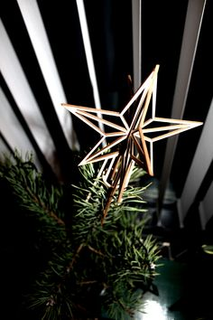 Birch star Christmas tree. Made in Finland by Valona. www.valona.fi